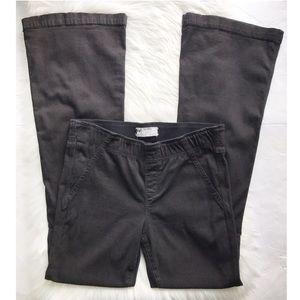 Free People Pull On Black Flare Pants Jeans